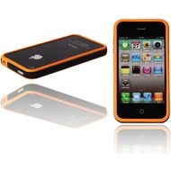 Twins 2Color Bumper f�r iPhone 4, orange-schwarz