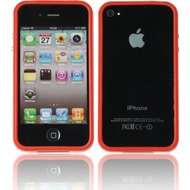 Twins 2Color Bumper für iPhone 4/ 4S, rot-weiß