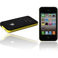 Twins 2Color Bumper f�r iPhone 4, schwarz-neongelb