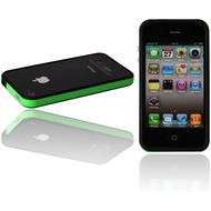 Twins 2Color Bumper f�r iPhone 4, schwarz-neongr�n