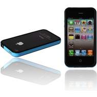 Twins 2Color Bumper f�r iPhone 4, schwarz-t�rkis