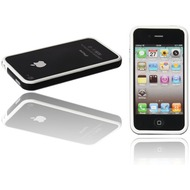 Twins 2Color Bumper f�r iPhone 4, wei�-schwarz