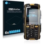 Twins 6x SU75 UltraClear Displayschutzfolie für RugGear RG300