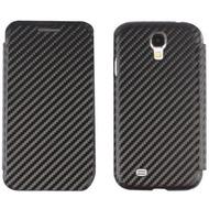 Twins BookFlip Carbon für Samsung Galaxy S4, schwarz