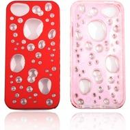 Twins Bubble Bath für iPhone 5/ 5S/ SE, rot-transparent
