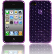 Twins Bubbles f�r iPhone 4, lila