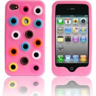 Twins Circles N Dots für iPhone 4, pink
