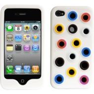 Twins Circles N Dots für iPhone 4, weiß