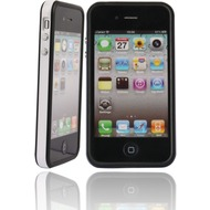 Twins 2Color Bumper f�r iPhone 4S, schwarz-wei�