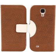 Twins Elegant BookFlip für Samsung Galaxy S4, braun-weiß