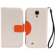 Twins Elegant BookFlip für Samsung Galaxy S4, weiß-orange