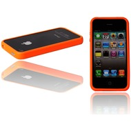 Twins Flashy Bumper für iPhone 4, knall-orange
