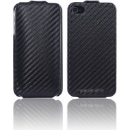 Twins Flip Carbon f�r iPhone 4 /  4S, schwarz