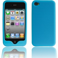 Twins Grip für iPhone 4, aquamarin-blau