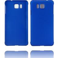Twins Hardcase Softtouch für Galaxy Alpha,blau