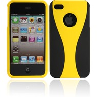 Twins Hardshelled f�r iPhone 4/ 4S, schwarz-gelb