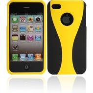 Twins Hardshelled für iPhone 4/ 4S, schwarz-gelb
