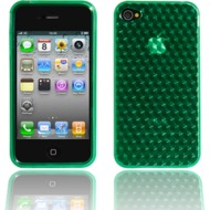 Twins Hexagon f�r iPhone 4, gr�n