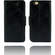 Twins Kunstleder Flip Case für iPhone 6 Plus,schwarz