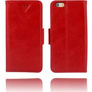 Twins Kunstleder Flip Case für iPhone 6,rot