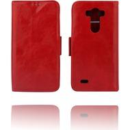 Twins Kunstleder Flip Case für LG G3,rot