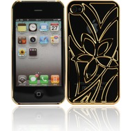 Twins Metal Flower für iPhone 4/ 4s, gold