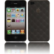 Twins Micro Diamond f�r iPhone 4, schwarz-transparent
