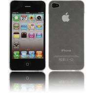 Twins Micro Diamond für iPhone 4, weiß-transparent