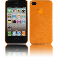 Twins Micro Flower f�r iPhone 4, orange