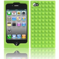 Twins Pyramids für iPhone 4, grün