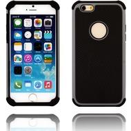 Twins Rugged Case für iPhone 6, zweiteilig, schwarz/ grau