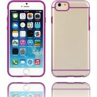 Twins Shield Akzent - Schutzhülle für iPhone 6 Plus, transparent/ lila