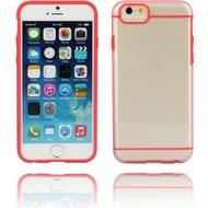 Twins Shield Akzent - Schutzhülle für iPhone 6 Plus, transparent/ rot