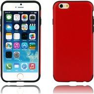 Twins Shield Matte Lederoptik für iPhone 6 Plus- -rot