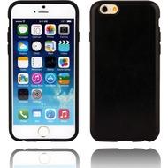 Twins Shield Matte Lederoptik für iPhone 6 Plus-schwarz