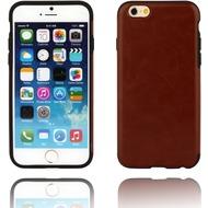 Twins Shield Matte Lederoptik für iPhone 6 Plus- braun