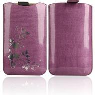 Twins Shiny Pouch Elegance für Samsung i9100 Galaxy S2, violett