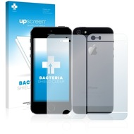 upscreen Bacteria Shield Clear Premium Displayschutzfolie für Apple iPhone 5S (Vorder + Rückseite)