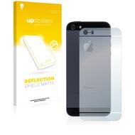 upscreen Reflection Shield Matte Premium Displayschutzfolie für Apple iPhone 5S Rückseite (gesamte Fläche)