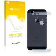 upscreen Reflection Shield Matte Premium Displayschutzfolie für Apple iPhone 5S Rückseite (Glasflächen + Logo)
