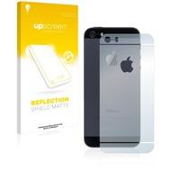 upscreen Reflection Shield Matte Premium Displayschutzfolie für Apple iPhone 5S Rückseite (gesamte Fläche + LogoCut)