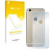 upscreen Reflection Shield Matte Premium Displayschutzfolie für Apple iPhone 6S Rückseite (gesamte Fläche + LogoCut)