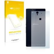 upscreen Reflection Shield Matte Premium Displayschutzfolie für Sony Xperia Z C6603 (Rückseite)
