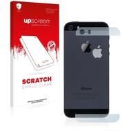 upscreen Scratch Shield Clear Premium Displayschutzfolie für Apple iPhone 5S Rückseite (Glasflächen + Logo)