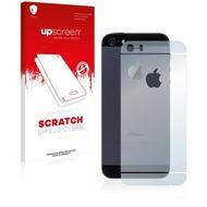 upscreen Scratch Shield Clear Premium Displayschutzfolie für Apple iPhone 5S Rückseite (gesamte Fläche + LogoCut)