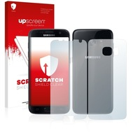 upscreen Scratch Shield Clear Premium Displayschutzfolie für Samsung Galaxy S7 Edge (Vorder + Rückseite)