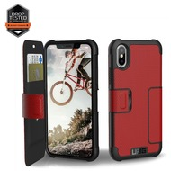 Urban Armor Gear Metropolis Folio Case, Apple iPhone X, magma (rot)