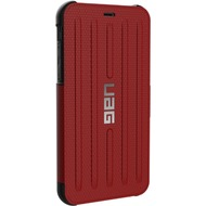 Urban Armor Gear Metropolis Folio Case, Apple iPhone XR, magma (rot)