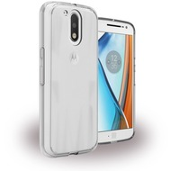 UreParts Acrylic Case - Hardcover mit Bumper - Motorola Moto G4, Moto G4 Plus - Klar