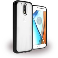 UreParts Acrylic Case - Hardcover mit Bumper - Motorola Moto G4, Moto G4 Plus - Schwarz